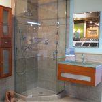 Glass and Tile Corner Shower