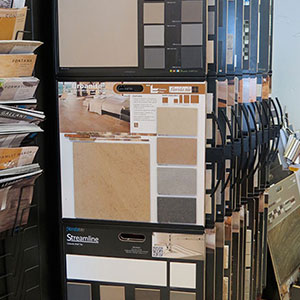 Flooring samples that can be used for kitchen or bathroom remodeling from John J. Cahill Inc. in Evanston, IL