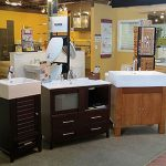 Sample cabinets in the showroom at John J. Cahill Inc. in Evanston, IL