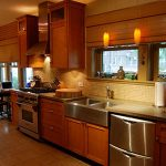 A newly remodeled kitchen completed by John J. Cahill Inc. in Evanston, IL