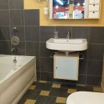 Wall Mount Sink, Bath, and Toilet
