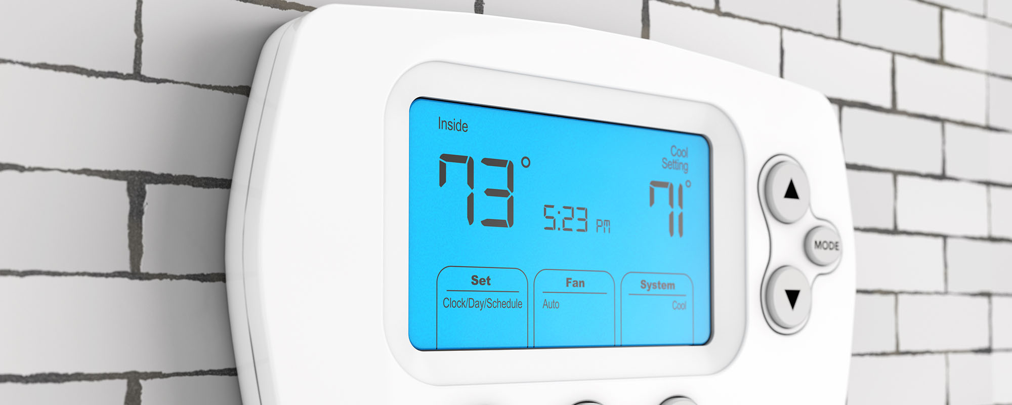 A smart thermostat representing the HVAC maintenance services of John J. Cahill Inc. in Evanston, IL