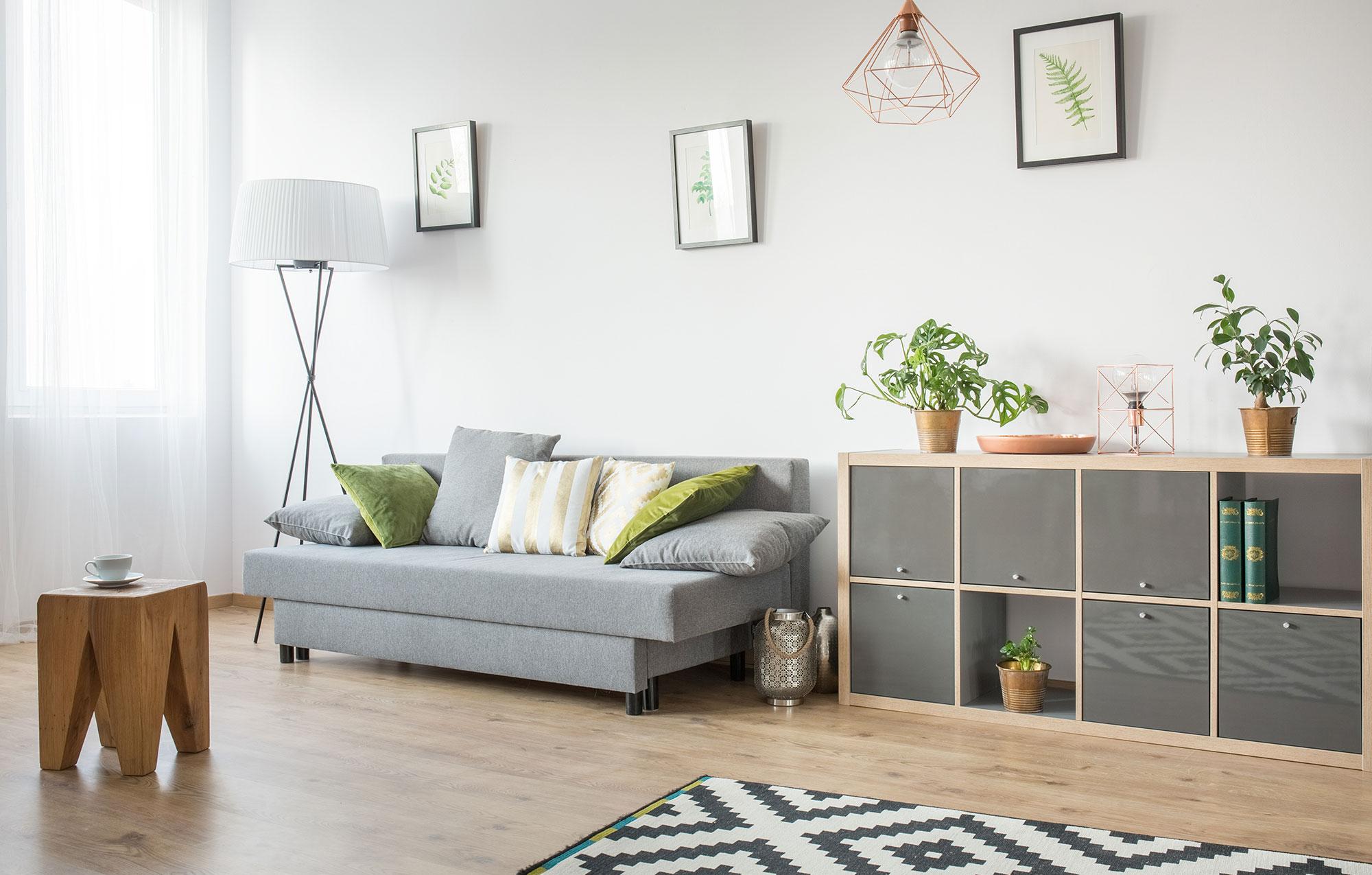 Sofa and Organizational Cube