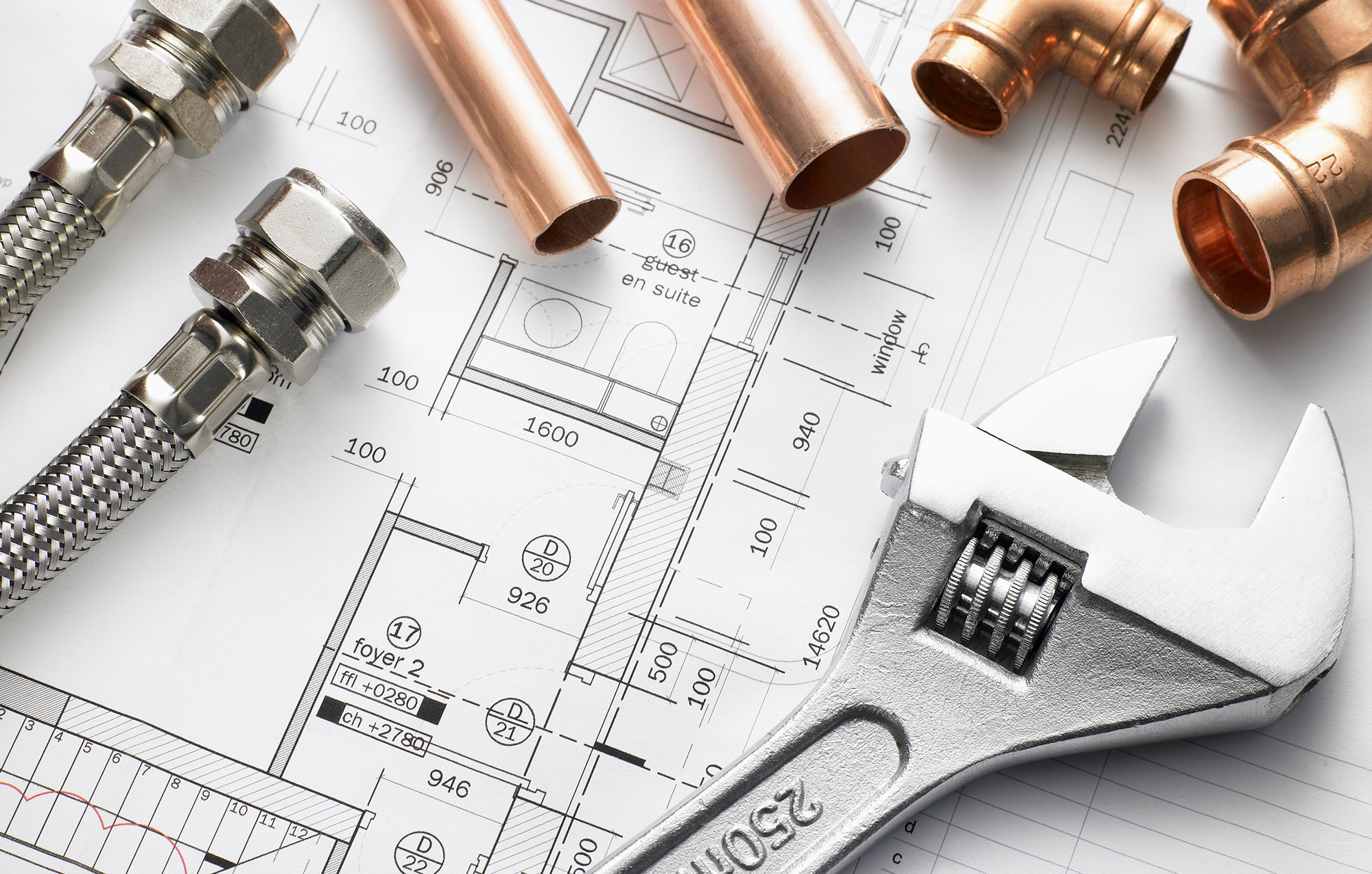 Copper Pipe, Wrench, and Plans