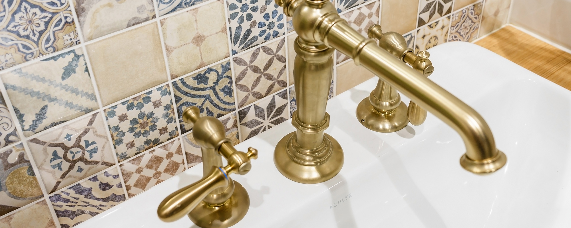 Golden Bathroom Faucet
