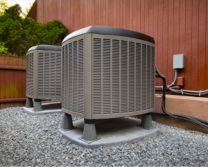 New air conditioner installed at a house in Evanston, Illinois